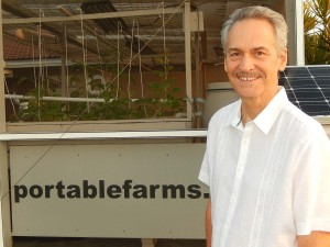 Colle Davis, Lead Inventor, Portable Farms® Aquaponics Systems.
