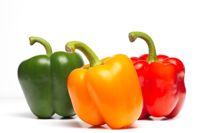Bell Peppers Grow in Portable Farms Aquaponics Systems
