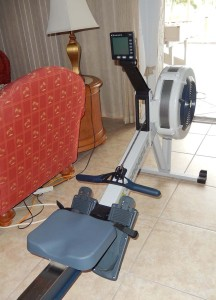 Our swanky new rowing machine.